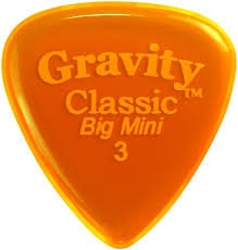 "Gravity Classic Pick: UNPOLISHED ""Big Mini""- 3mm-Orange"