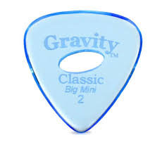 "Elipse Gravity Classic Pick: UNPOLISHED ""Big Mini""- 2mm-Blue"