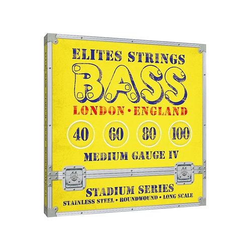 Elites Stadium Series: Medium Gauge 4 String Set (40-100)