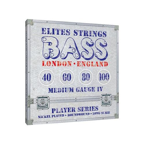 Elites Player Series: Medium Gauge 4 String Set (40-100)