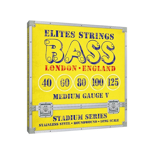 Elites Stadium Series: Medium Gauge 5 String Set (40-125)