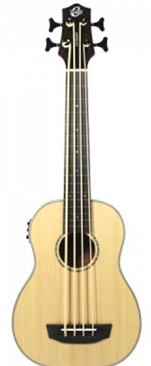 Ashbory Bass Ukulele - Lined Fretless