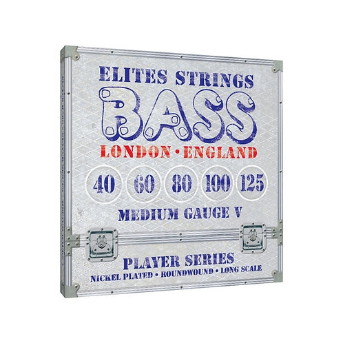 Elites Player Series: Medium Gauge 5 String Set (40-125)