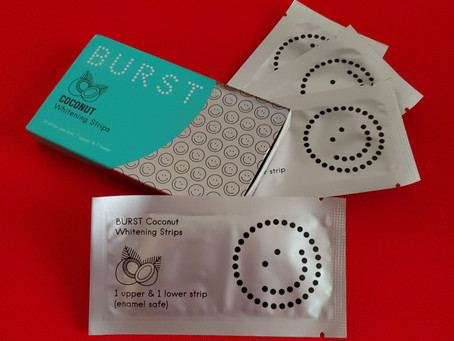 BURST Coconut Whitening Strips Review. Save $5 with my BURST Ambassador Promo Code / Coupon!
