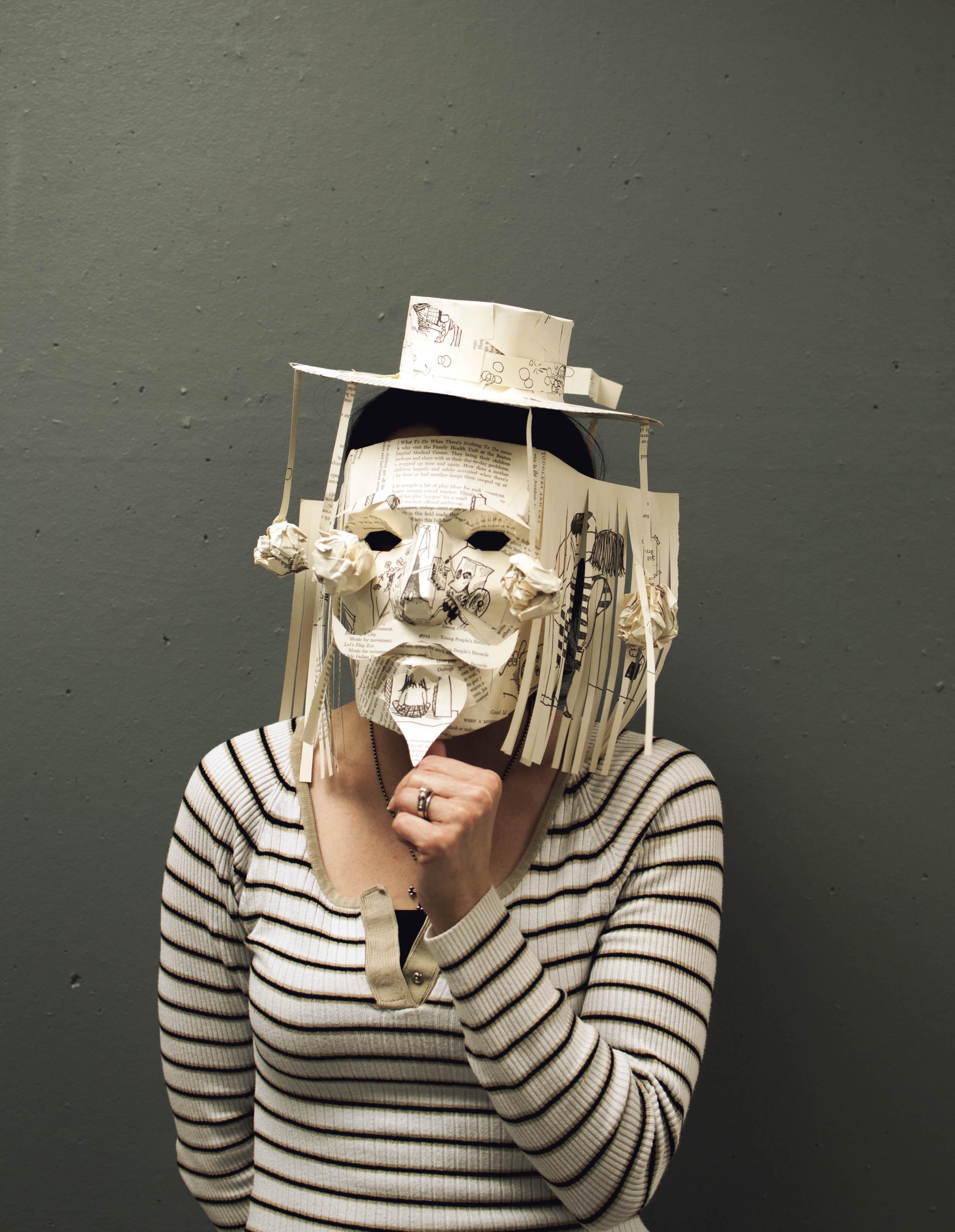 Geometric mask of paper