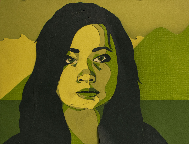 Monochromatic portrait
