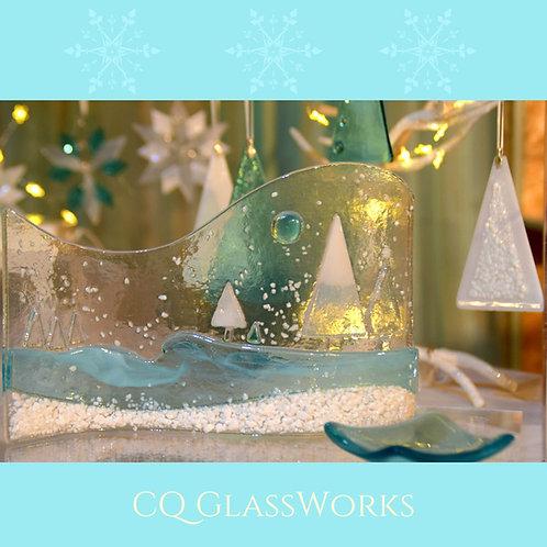 Freestanding Display, Winter Scene