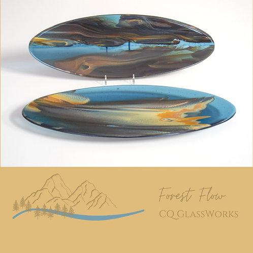 Oval Platter, Forest Flow