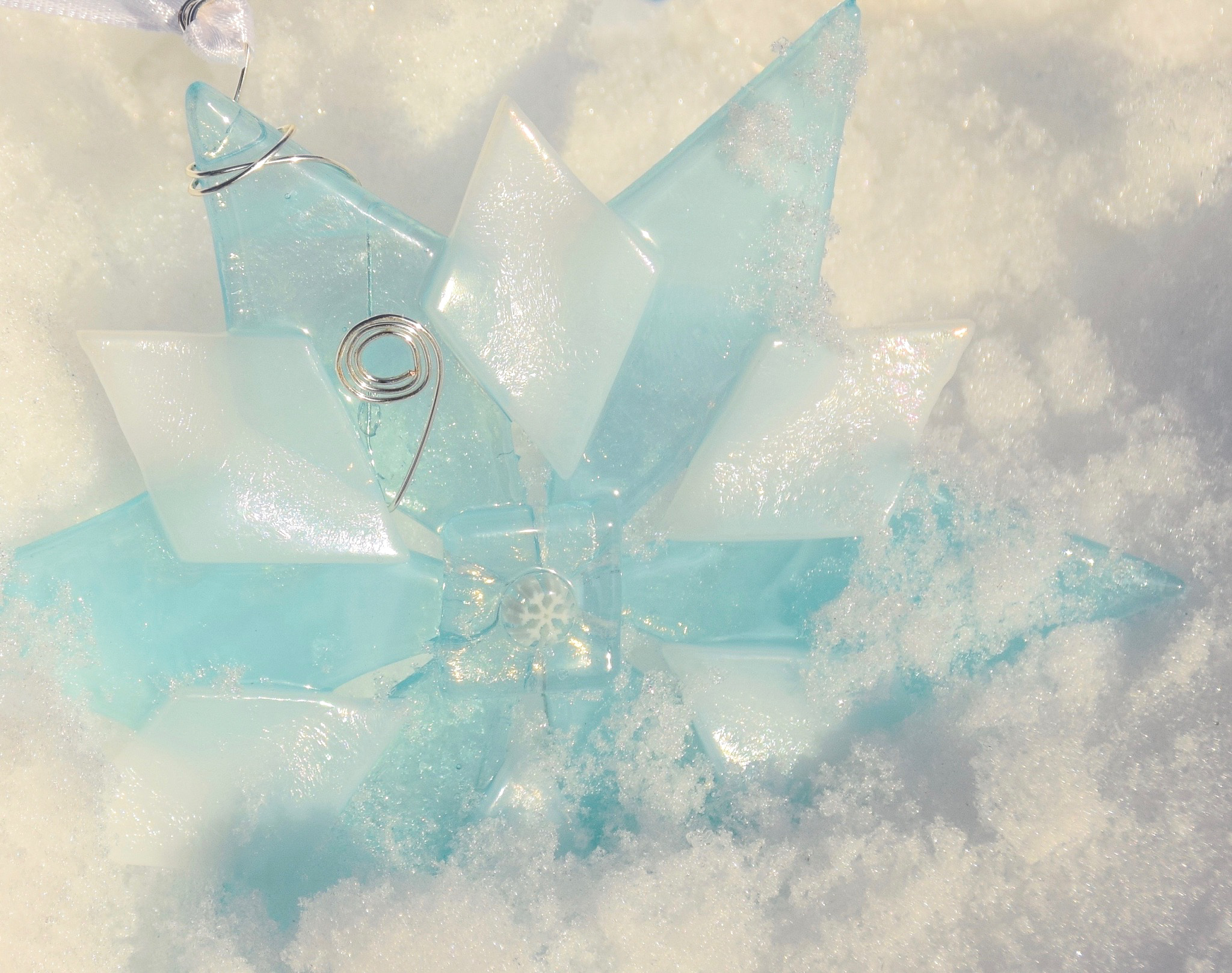 """Shimmer & Sparkle"" snowflake"