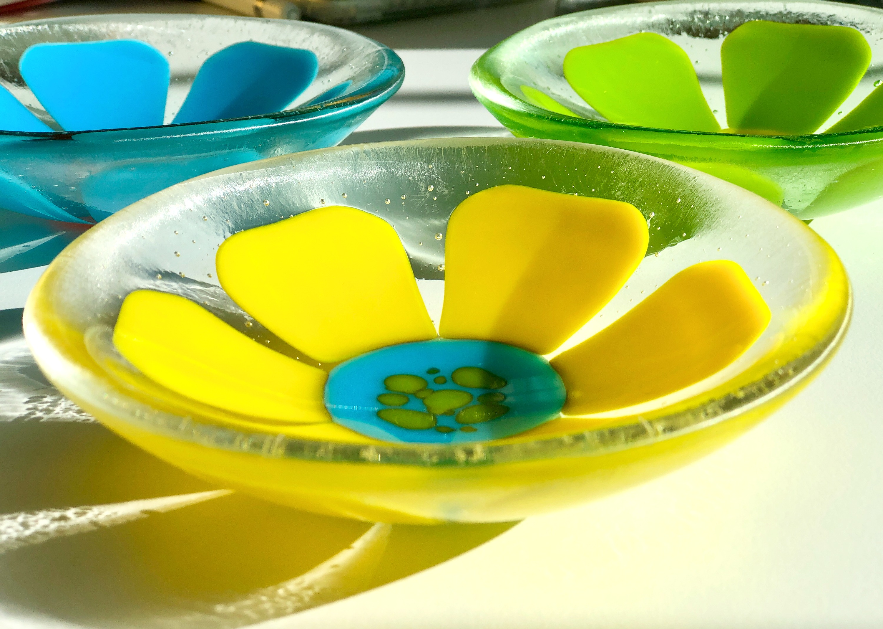Canary Yellow Flower Mini Bowl