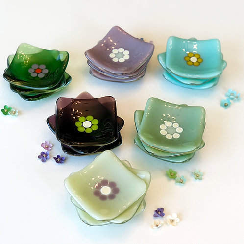 Flower Trinket Dishes, color options