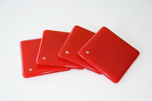 Coasters, Tomato Red (sold as set of 4 or 2)
