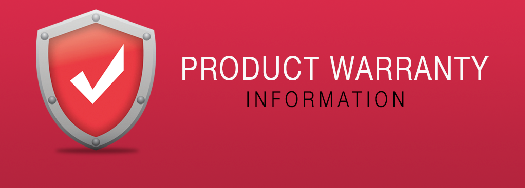 PRODUCT WARRANTY INFORMATION