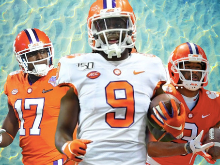 2021 Draft Prospects: Travis Etienne - RB/Cornell Powell -WR/ Amari Rodgers - WR - Clemson