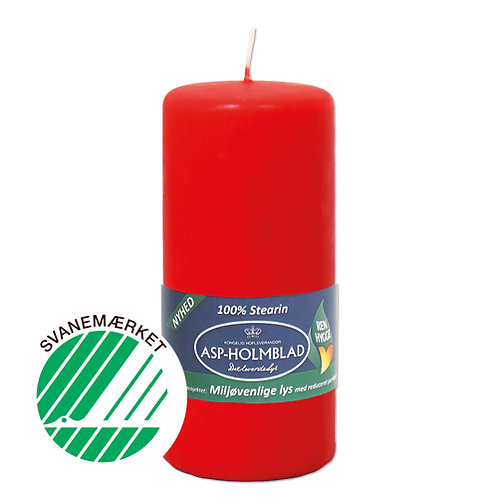 Miljøvenlige bloklys 5,8 x 13 cm  Rød/Red - 100% stearin