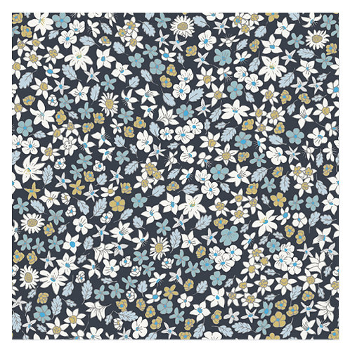 "Design servietter 3-Lag ""Small Flowered Blue"" 33 x 33 cm 20 stk."