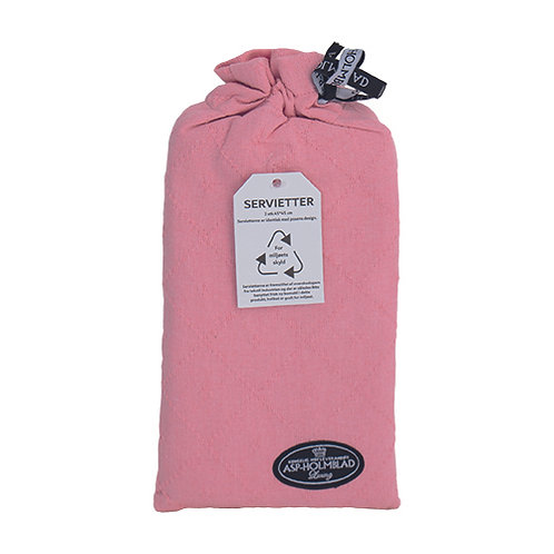 Stofservietter 2 stk. 45 x 45 cm i gavepose Baby Pink