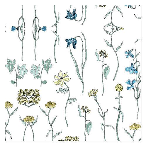 "Design servietter 3-Lag ""Field Flowers"" 40 x 40 cm 20 stk."