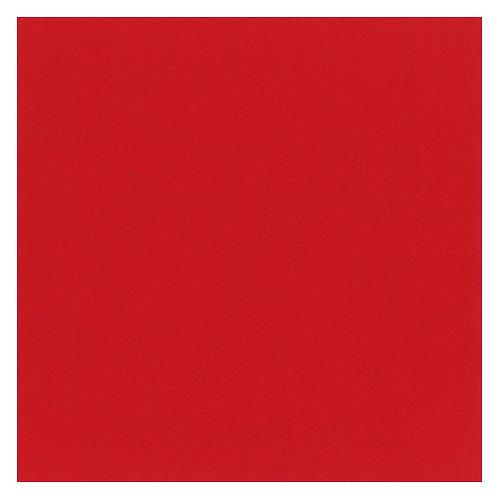 Kaffe servietter 3-Lag  25 x 25 cm 20 stk. Red/Rød