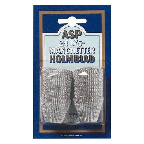Alumanchetter 24 stk. Sølv/Guld - Asp-Holmblad