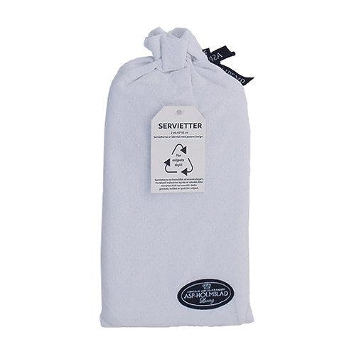 Stofservietter 2 stk. 45 x 45 cm i gavepose White/Hvid