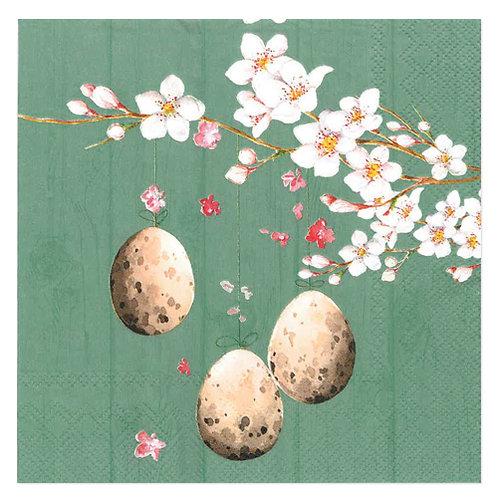 """Design servietter """"Egg's on branch Jadesheen"""" 33 x 33 cm 3-lag 20 stk."""