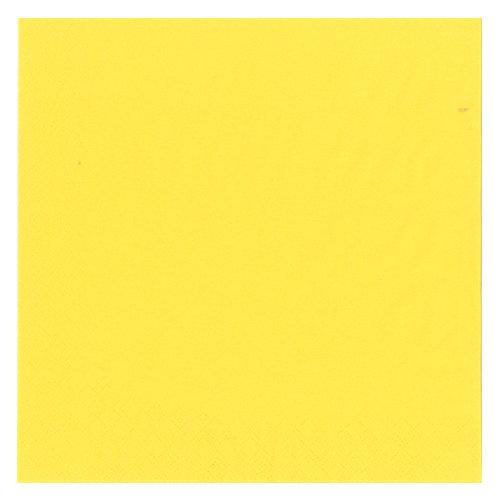 Middags servietter 3-Lag Yellow 40 x 40 cm 20 stk.