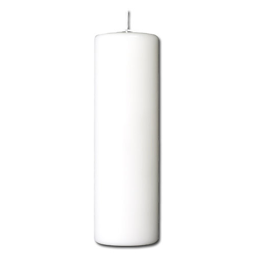 Bloklys 7,8 x 25 cm - paraffin White