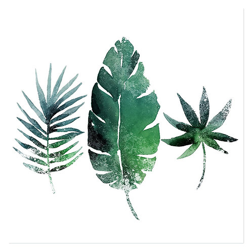 "Design servietter 3-Lag ""Three Exotic Leaves"" 33 x 33 cm 20 stk."