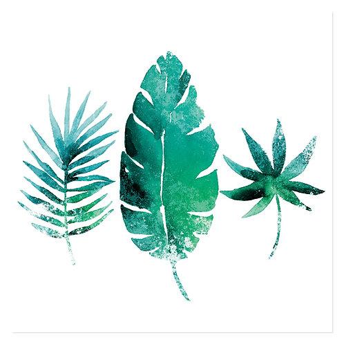 "Design servietter 3-Lag ""Three Exotic Leaves"" 40 x 40 cm 20 stk."