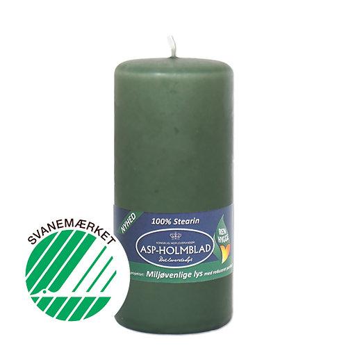 Miljøvenlige bloklys 5,8 x 13 cm  Mossgreen - 100% stearin