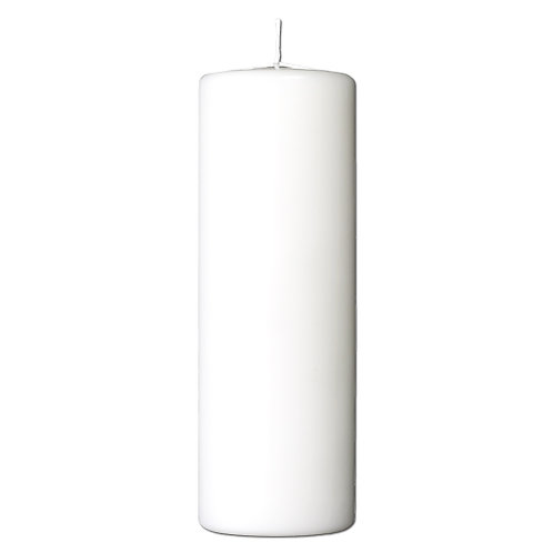 Bloklys 7,8 x 20 cm - paraffin White