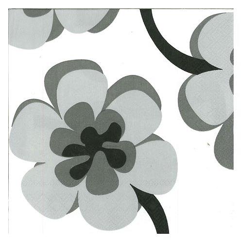 "Storkøb servietter ""Modern Flowers B & W"" 33 x 33 cm 3-lag 240 stk."