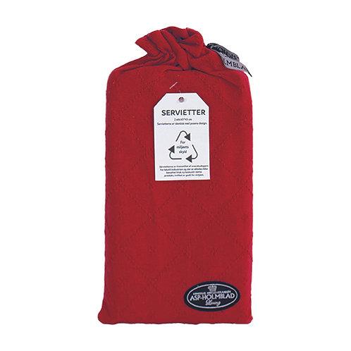 Stofservietter 2 stk. 45 x 45 cm i gavepose Red/Rød