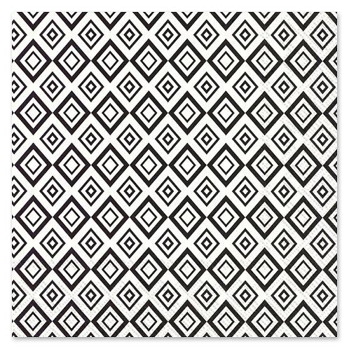 "Storkøb servietter ""Retro Black & White"" 33 x 33 cm 3-lag 240 stk."