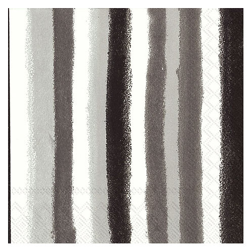 "Storkøb servietter ""Retro Stripes Grey"" 33 x 33 cm 3-lag 240"