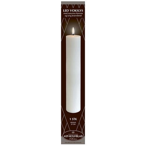 ASP-HOLMBLAD LED-Fest Vokslys 5 x 27 cm White/Hvid i flot gaveæske
