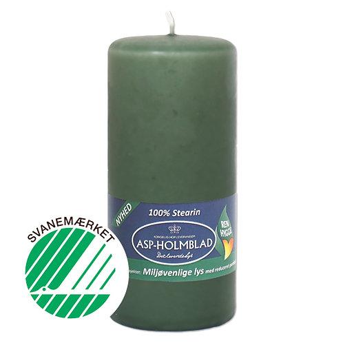 Miljøvenlige bloklys 6,8x15 cm 100% stearin Mossgreen