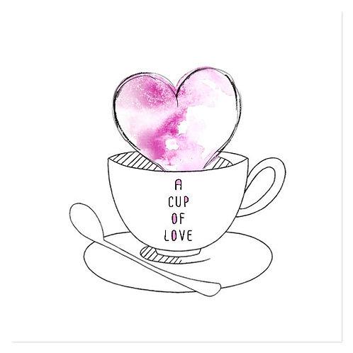 "Design servietter ""A cup of love"" 33 x 33 cm 3-lag 20 stk."