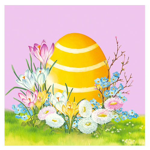 """Design servietter """"Easter Egg Dusty Rose"""" 33 x 33 cm 3-lag 20 stk."""