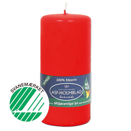 Miljøvenlige bloklys 6,8x15 cm 100% stearin Rød/Red