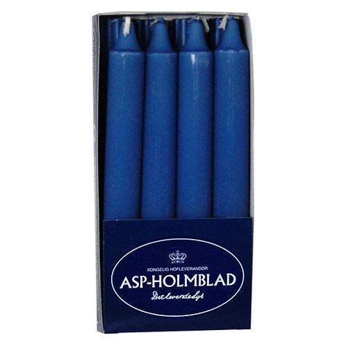 Kronelys 2,4x20 cm 8 stk. 100% ren stearin Jeans Blue