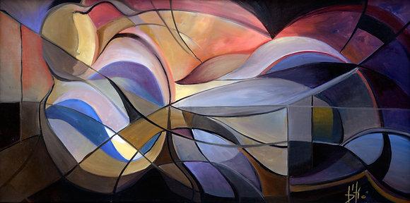 The Goddess - canvas gicléen 18x36