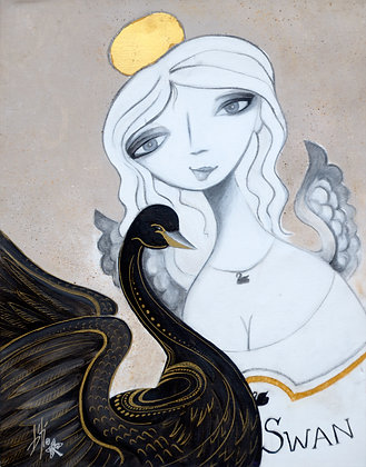 Black Swan ~ original painting
