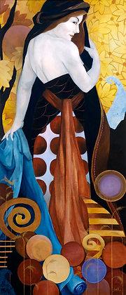 Queen of Discs ~ original painting