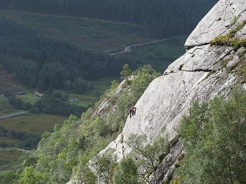 Polldubh Crags Multi-Pitch Climbing Experience