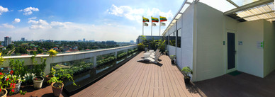 Rooftop Garden and Fitness Center