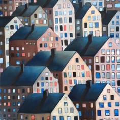 Sinisten kattojen kaupunki, 2018, MYYTY