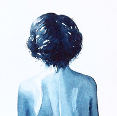Indigonsininen tyttö, 2017, MYYTY
