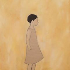 Tyttö pellavamekossa II, 2020